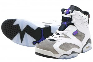 NIKE AIR JORDAN 6 RETRO LTR - WHITE/DARK CONCORD-BLACK