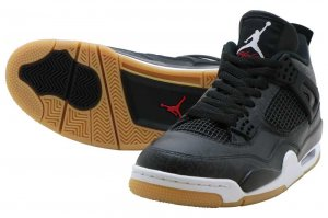 NIKE AIR JORDAN 4 RETRO SE - BLACK/WHITE-GUM LIGHT BROWN