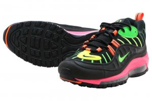 NIKE AIR MAX 98 NEON - BLACK/GREEN STRIKE-RACER PINK