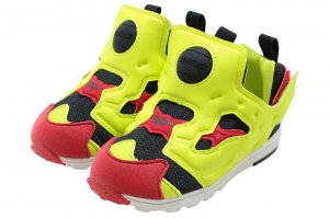 Reebok VERSA PUMP FURY INFANTS - BLACK/HYPRE GREEN/RED/WHITE