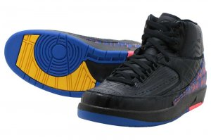 NIKE AIR JORDAN 2 RETRO BHM - BLACK/METALIC GOLD