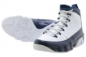 NIKE AIR JORDAN 9 RETRO - WHITE/UNIVERSITY BLUE