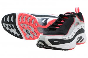 Reebok DAYTONA DMX VECTOR - BLACK/GREY/WHITE/NEON RED