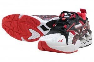 MIZUNO WAVE RIDER 1 - WHITE/BLACK/RED