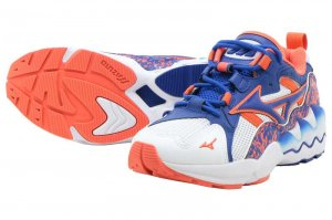 MIZUNO WAVE RIDER 1 - WHITE/BLUE/ORANGE