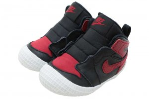 NIKE JORDAN 1 CRIB BOOTIE - BLACK/VERSITY RED-WHITE