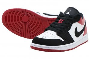 NIKE AIR JORDAN 1 LOW - WHITE/BLACK-GYM RED
