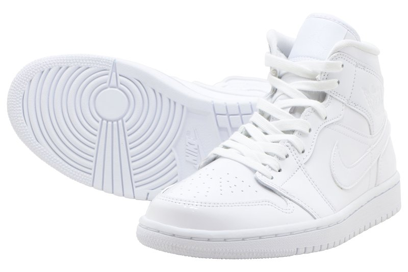 official photos ddd7a 7312b NIKE WMNS AIR JORDAN 1 MID - WHITE WHITE-WHITE bq6472-111