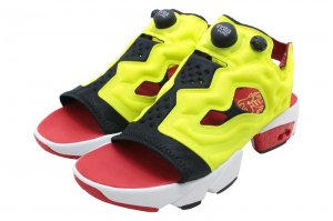 Reebok INSTAPUMP FURY SANDAL - BLACK/GREEN/RED