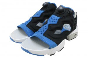 Reebok INSTAPUMP FURY SANDAL - BLACK/ECHO BLUE/STEEL