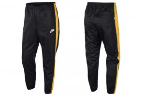 NIKE NSW WOVEN PANT - BLACK/YELLOW OCHER