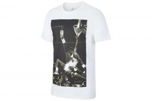NIKE JORDAN HANGTIME PHOTO T-sh - WHITE