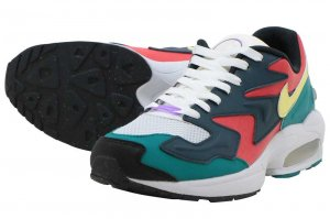 NIKE AIR MAX2 LIGHT SP - HABANERO RED/ARMORY NAVY-RADIANT EMERALD