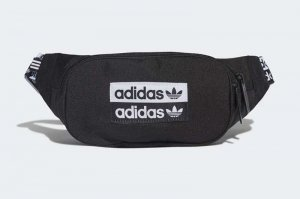 adidas WAIST BAG - BLACK/WHITE