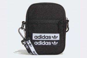 adidas FESTIVAL BAG - BLACK/WHITE