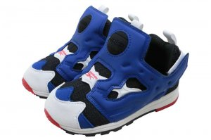 Reebok VERSA PUMP FURY - BLACK/ROYAL/WHITE/RED