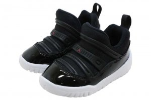 NIKE JORDAN 11 RETRO LITTLE FLEX TD - BLACK/GYM RED-WHITE