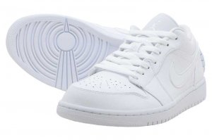 NIKE AIR JORDAN 1 LOW - WHITE/WHITE-WHITE