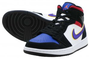 NIKE AIR JORDAN 1 MID SE - BLACK/FIELD PURPLE-WHITE