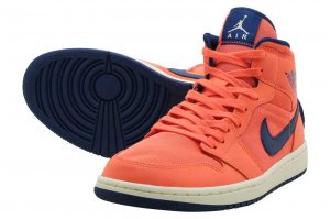 NIKE WMNS AIR JORDAN 1 MID - TURF ORANGE/BLUE VOID