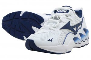 MIZUNO WAVE RIDER 1 - WHITE/NAVY