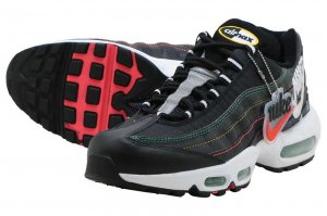 NIKE AIR MAX 95 SE - BLACK/FLASH CRIMSON