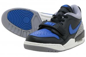 NIKE AIR JORDAN LEGACY 312 LOW - BLACK/GAME ROYAL-WHITE