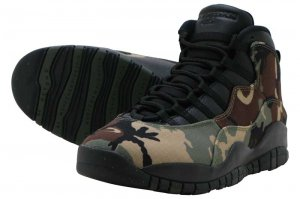 NIKE AIR JORDAN 10 RETRO - DESERT CAMO/BLACK-LT CHOCOLATE