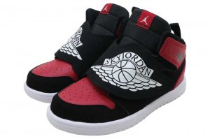 NIKE SKY JORDAN 1 (TD) - BLACK/WHITE-GYM RED
