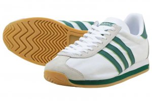 adidas Originals COUNTRY OG - RUNNING WHITE/COLLEGEATE GREEN/CLEAR BROWN
