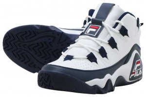 FILA GRANT HILL 1 - WHITE/NAVY/RED
