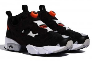 Reebok INSTAPUMP FURY OG MU - BLACK/WHITE/FINE ORANGE