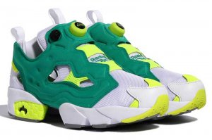Reebok INSTAPUMP FURY OG MU - WHITE/MEMERALD ICE/CHEMICAL SOLAR YELLOW