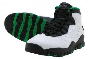 NIKE AIR JORDAN 10 RETRO - WHITE/BLACK-COURT GREEN