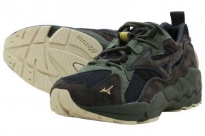 MIZUNO WAVE RIDER 1 - BLACK/BROWN/DARK GREEN