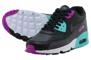 NIKE AIR MAX 90 LTR (GS) - BLACK/METALIC DARK GREY