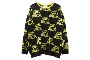 FILA CREW NECK JERSEY - BLACK
