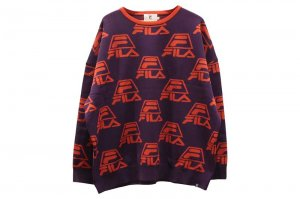 FILA CREW NECK JERSEY - PURPLE