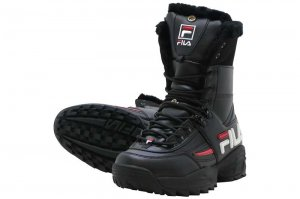 FILA DISRUPTOR BOOT - BLACK/WHITE/RED