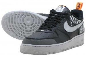NIKE AIR FORCE 1 '07 LV8 2 - BLACK/WOLF GREY-DARK GREY