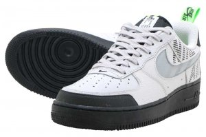 NIKE AIR FORCE 1 '07 LV8 2 - VAST GREY/GUN SMOKE-BLACK-ELECTRIC GREEN
