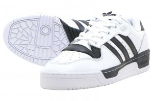adidas RIVALRY LOW - FTW WHITE/FTW WHITE/CORE BLACK
