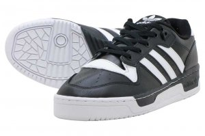 adidas RIVALRY LOW - CORE BLACK/FTW WHITE/FTW WHITE