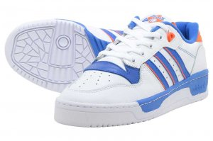 adidas RIVALRY LOW - FTW WHITE/BLUE/ORANGE