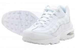 NIKE AIR MAX 95 (GS) - WHITE/WHITE-METALIC SILVER