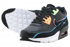 NIKE AIR MAX 90 SE (GS) - BLACK/BLACK-BLUE FURY