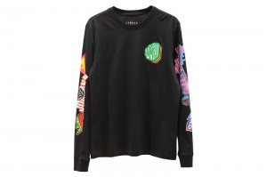 JORDAN BRAND STICKER L/S CREW - BLACK