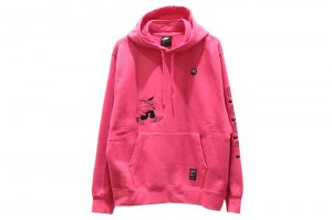 NIKE FLEECE SEASONAL PULLOVER HOODIE - WATERMELON