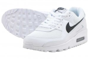NIKE W AIR MAX 90 - WHITE/BLACK-WHITE