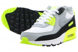 NIKE AIR MAX 90 LTR (GS) - WHITE/PARTICLE GREY-VOLT